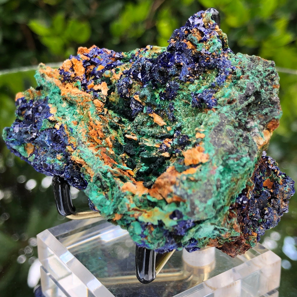 266g 10x5.5x4.5cm Blue Azurite w/ green Malachite from Sepon Mine, Laos