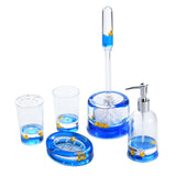 5 Piece Acrylic Liquid 3d Floating Motion Bathroom Vanity Accessory Set Duck