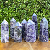 Purple Banded Chevron Amethyst Point Tower from Zambia - Locco Decor