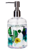 Acrylic Liquid Motion Home Decor Flower Soap Dispenser