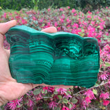 632g 17x10x1cm Green Malachite Slab from Congo