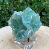 348g 8x8x5cm Clear Yaogangxian Fluorite from China