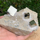 524.6g 13x10x5cm Cubic Navajun Spanish Pyrite  from Spain