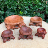 Wooden Square Sphere Ball Base stand Made in China