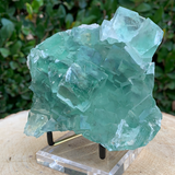 750g 12x11x7cm Clear Yaogangxian Fluorite from China