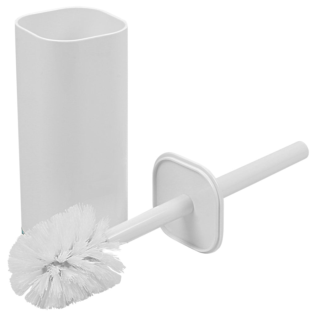 5 Piece Acrylic Modern Style Bathroom Vanity Accessory Toilet Brush- White