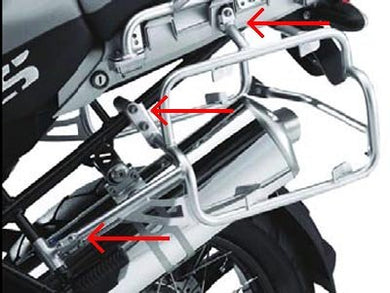 BMW R1200GS/GSA Case Mountings with Crossbar and Mounting Kit - BMWSuperShop.com