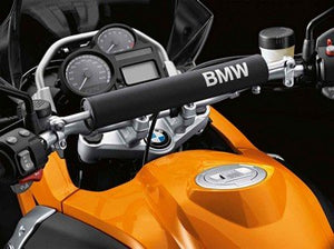 BMW  R1200GS/GSA HANDLEBAR PADDING Black and White - 46 63 7 706 632 - BMWSuperShop.com
