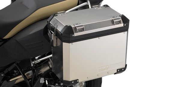 BMW F800GS and F800GSA Aluminum Case, Left - 77 41 8 566 447 - BMWSuperShop.com