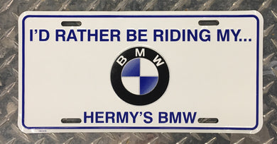 Hermy's BMW License Plate - BMWSuperShop.com