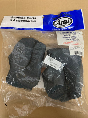 Arai Full Face Cheekpad Set for Replacement & Custom Fitting - 810636 - BMWSuperShop.com