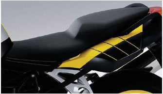BMW K1200S and K1300S Seat Bench, Low, Black - 52 53 8 528 326 - BMWSuperShop.com