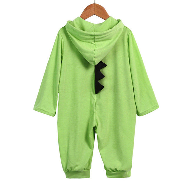 Dinosaur Hooded Jumpsuit for Baby Girls and Boys