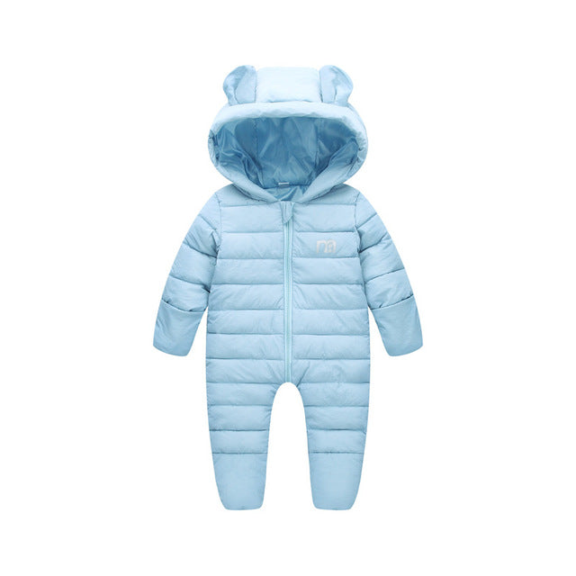 New Born Baby Solid Warm Overall Unisex Jumpsuits