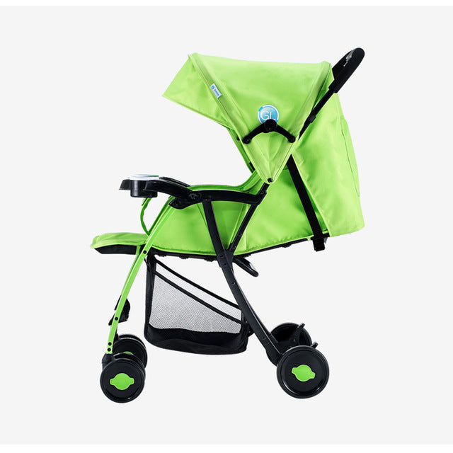 Baby Carriage Portable Folding Strong Alloy Steel For 0-5 Years Newborn