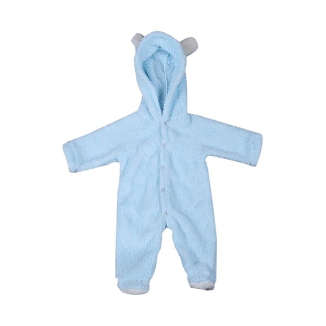 New Baby Cartoon Animal 3D Bear Ear Romper Unisex Jumpsuit