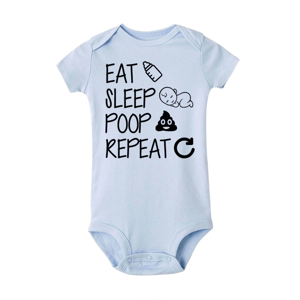 'Eat Sleep Poop' Repeat Funny Infant Unisex Jumpsuit