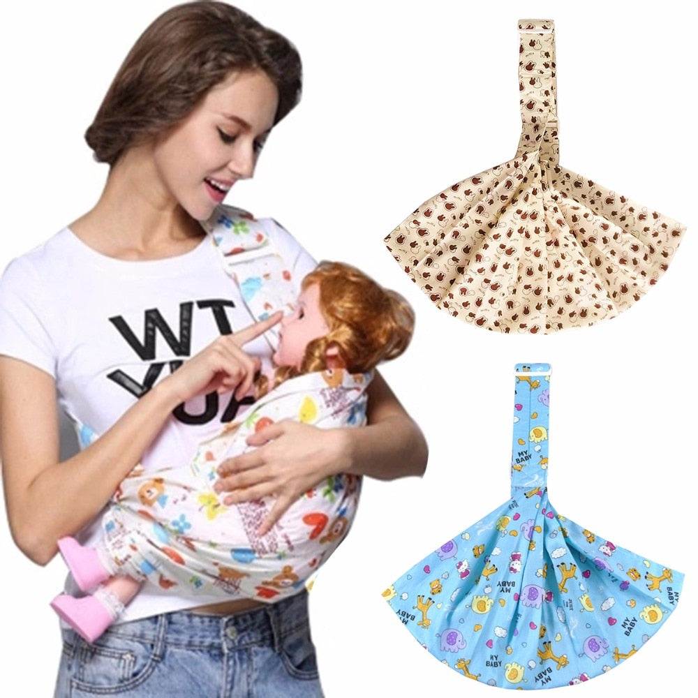 Newborn Single Shoulder Front Facing Wrap Carrier