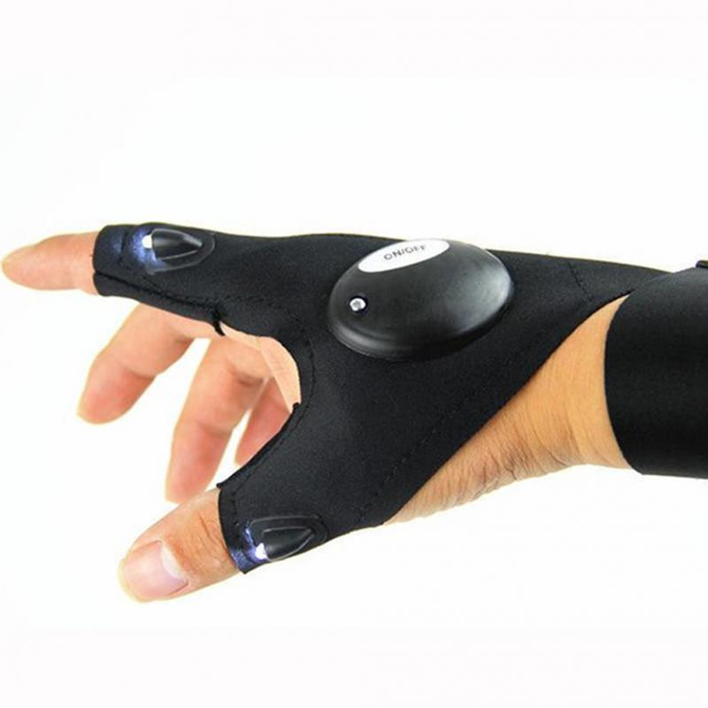 Magic Strap LED Fingerless Glove Flashlight - WowmeZone