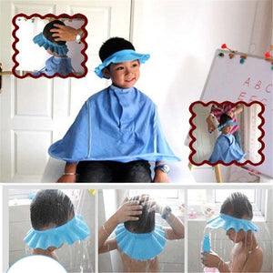 Safe Shampoo Shower Bathing Bath Protect Soft Cap Hat For Baby Wash Hair Shield Bebes Children Bathing Shower Cap Hat Kids T - WowmeZone