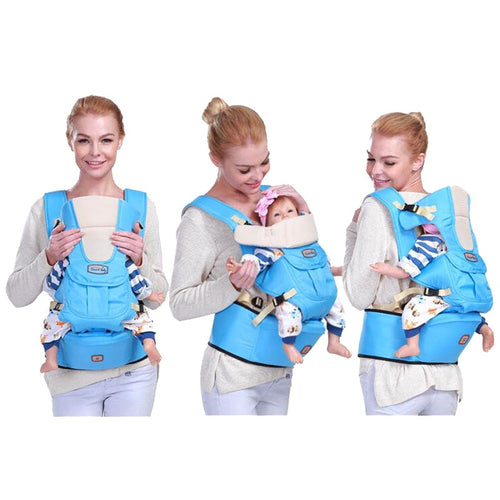 New 6 in 1 For 0-36m infant toddler ergonomic baby carrier sling backpack bag gear with hip seat wrap newborn Waist Stool Belt - WowmeZone