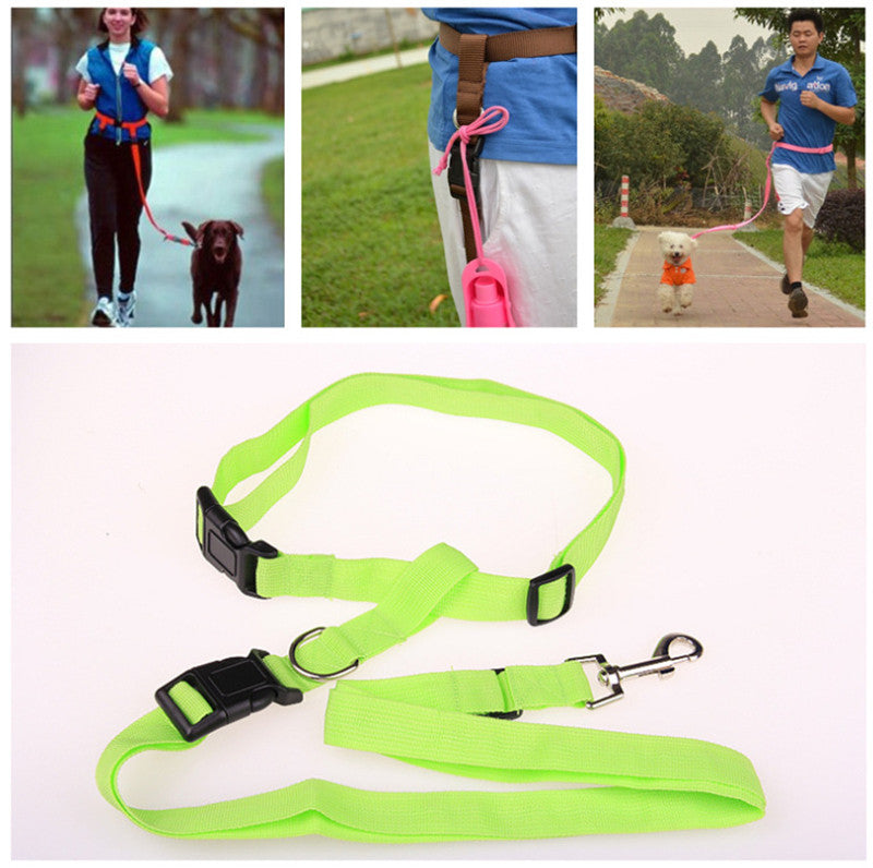 New Design Waist Pet Dog Leash Walking Running Puppy Dog Lead Collar Sport Adjustable Safety Training Protect Dog Accessories 30 - WowmeZone