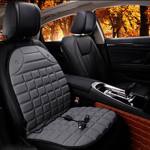 Electric Heated car seat Cushion Winter Car seat Pad  Car Heated Seat Covers Universal Conjoined Supplies Black Gray - WowmeZone