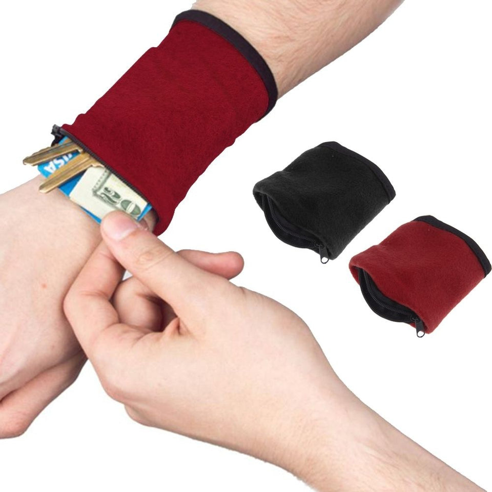 Wrist Wallet Pouch Fitness Band for Travel - WowmeZone
