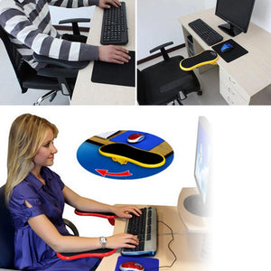 Attachable Armrest Pad Desk Computer Table Arm Support Mouse Pads Arm Wrist Rests Chair Extender Hand Shoulder Protect Mousepad - WowmeZone
