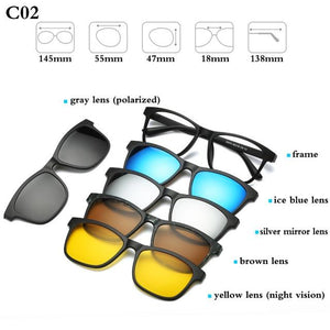 5+1  Magnetic Lens Swappable Glasses- Huge Discount Till Stocks Lasts