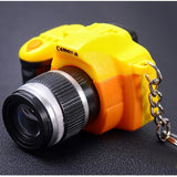 Creative Camera Led Keychains Toy Camera With Shutter Sound LED Flashlight Key Ring Toy Gift Cool Electronic Toys - WowmeZone