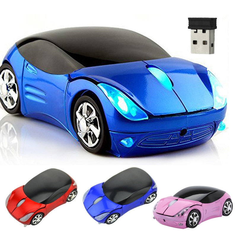 Wireless Mouse Computer Mice Fashion Super Car Shaped Game Mice 2.4Ghz Optical Mouse for PC  QJY99 - WowmeZone