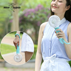 Mini usb hand fan cooling portable fan led light air conditioner cooler adjustable speed heat rechargeable battery fans 200mm - WowmeZone