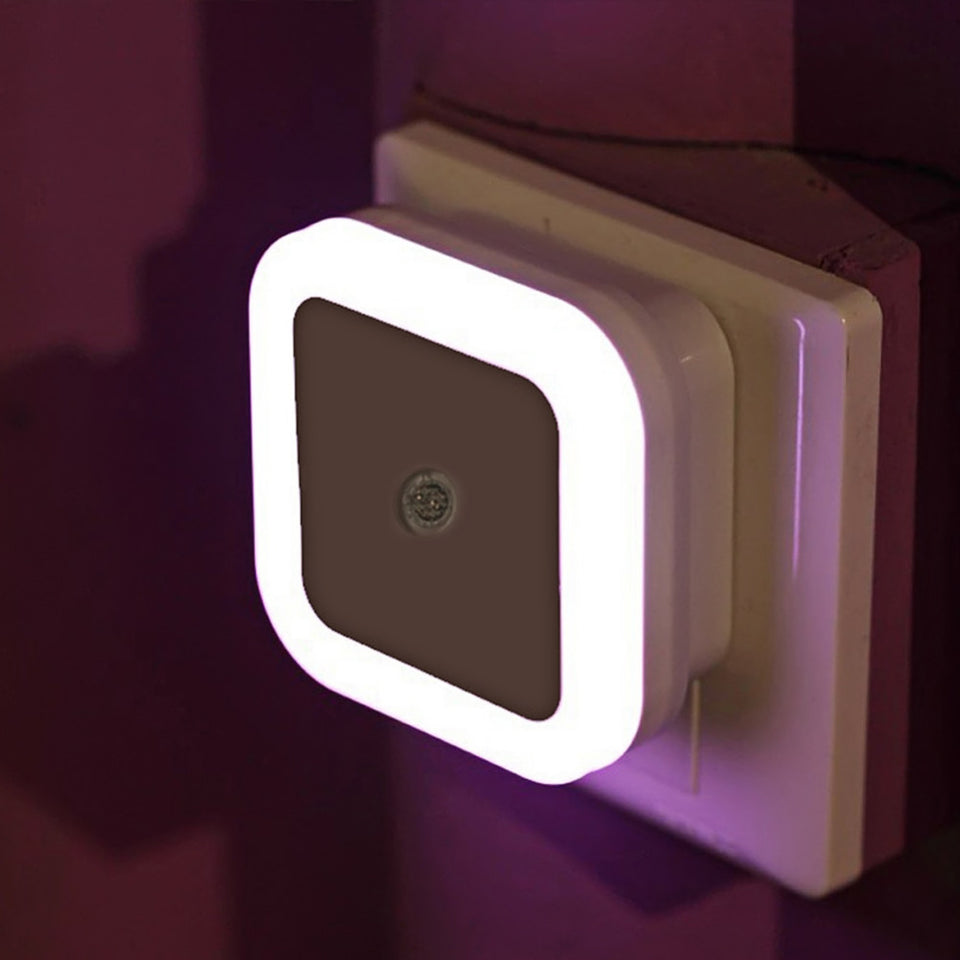 Light Sensor Control Night Light Mini EU US Plug Novelty Square Bedroom lamp For Baby Gift Romantic Colorful Lights - WowmeZone