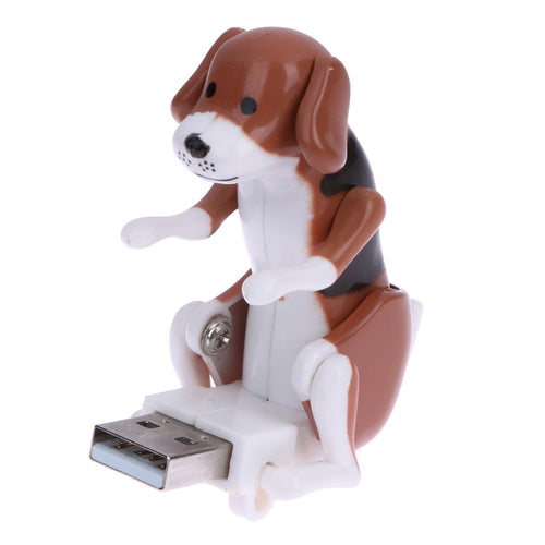Portable Mini Cute USB 2.0 Funny Humping Spot Dog Rascal Dog Toy Relieve Pressure for Office Worker Best gift For Festival - WowmeZone