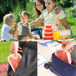 Portable Colorful Folding Silicone Lunch Box 350/500/800/1200ml Eco-Friendly - WowmeZone