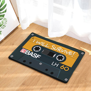 Nostalgia Classic Magnetic Tape Rectangular Mats Modern Entrance Doormats Dust-Proof Kitchen Carpet 40*60mm 50*80mm Bath Mat - WowmeZone