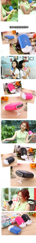 Mini portable hand held desk air conditioner humidification cooler cooling fan - WowmeZone