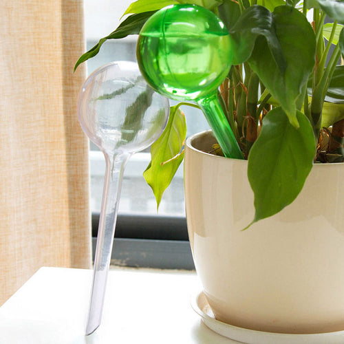 Practical PVC Travel House Plant Self Watering Bulb Shape Waterer Globes Automatic Irrigation Patio Lawn Garden Pot Planter Cans - WowmeZone