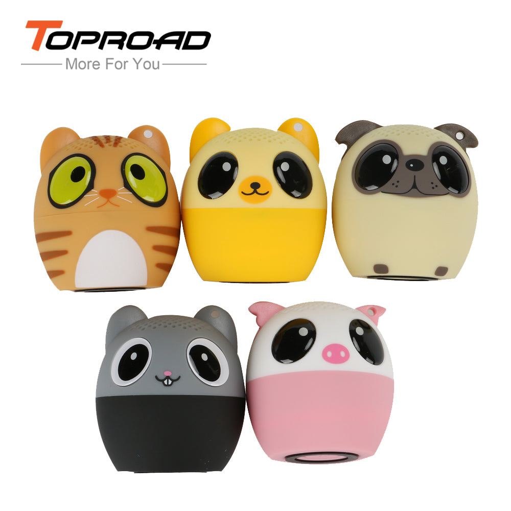 TOPROAD Mini Animal Bluetooth Speaker Portable Cartoon Outdoor Music Player Stero Loundspeakers Support Self Timer Handsfree - WowmeZone