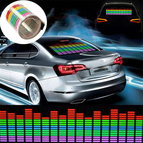 Car Sticker Music Rhythm LED Flash Light Lamp Sound Activated Equalizer - WowmeZone