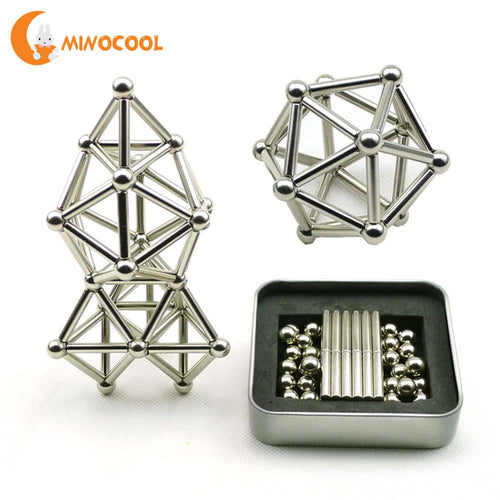 36PCS Magnetic Sticks & 27PCS Balls Magnetic Building Set- Innovative Toy for Building Models