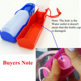 250ml Foldable Pet Dog Drinking Water Bottles Travel Hand Held Puppy Dogs Squeeze Water Bottle Dispenser Flip Down Water Pan - WowmeZone