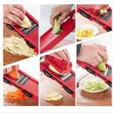 Mandoline Slicer Vegetable Cutter with Stainless Steel Blade Manual Potato Peeler Carrot Cheese Grater Dicer Kitchen Tool - WowmeZone