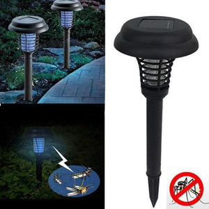 Solar Powered Mosquito Killer environmentally LED UV Night Lamp Outdoor Garden Insect Pest Bug Zapper Mosquito Killer Lamp - WowmeZone