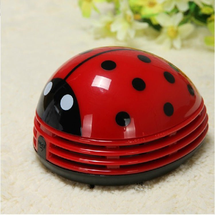 Armthm Mini Ladybug Desktop Coffee Table Vacuum Cleaner Dust Collector for Home Office - WowmeZone