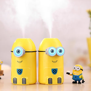 Mini Yellow People Ultrasonic Air Humidifier Cute Cartoon Aroma Oil Diffuser USB Car Air Humidifier LED Light Essential Diffuser - WowmeZone