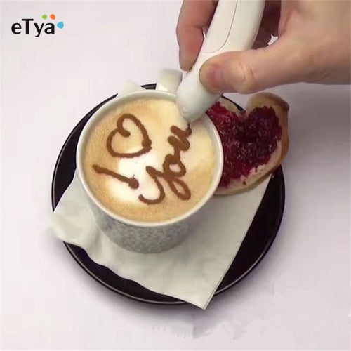 Amazing Electrical Latte Art Pen for Coffee & Cake - WowmeZone