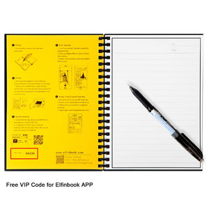 Erasable Notebook Paper Reusable Smart Wirebound Notebook Cloud Storage Flash Storage, App Connection - WowmeZone