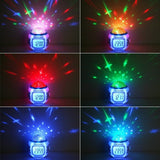 Creative Music Starry Sky Projection Alarm Clock Digital LED Alarm Clock Calendar Thermometer Projection Light Kids Toy - WowmeZone